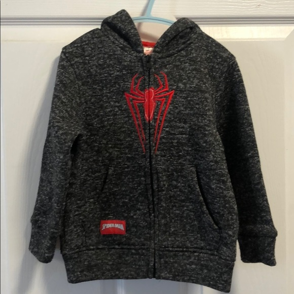 Spider-Man zip up Hooded Sweater size 4